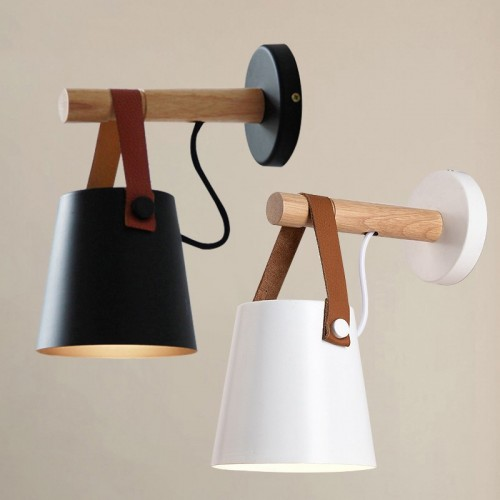 Wall Lamp Modern Aisle Corridor Wood Belt Wall Lamp