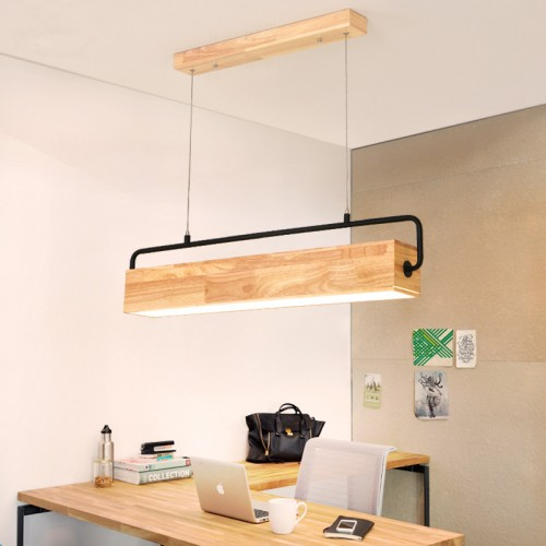 LED pendant lamp wooden hanging lamp dining table pendant lamp hanging lamp kitchen / living room / office / cafe / study