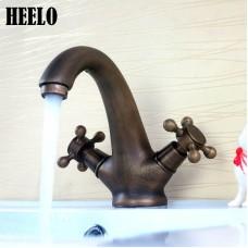 Antique retro  copper Single Hole Two Handle  basin faucet
