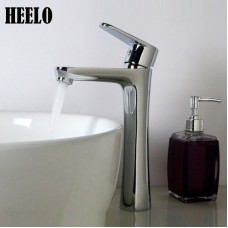 Fine copper hot and cold heightening single handle washable bathroom basin faucet