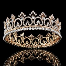 Women's Luxury Crystal Tiara Shining Rhinestone Crown for Pageant Wedding Bridal Beauty Contest Prom Party