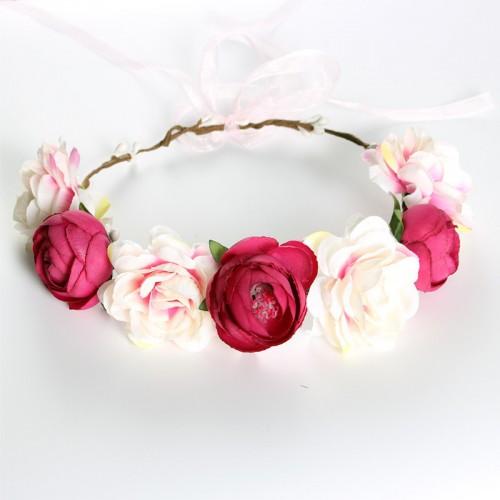Women Girls party Flower Bohemian flower Wedding Bridal Hair Wreath Floral Headband Garland