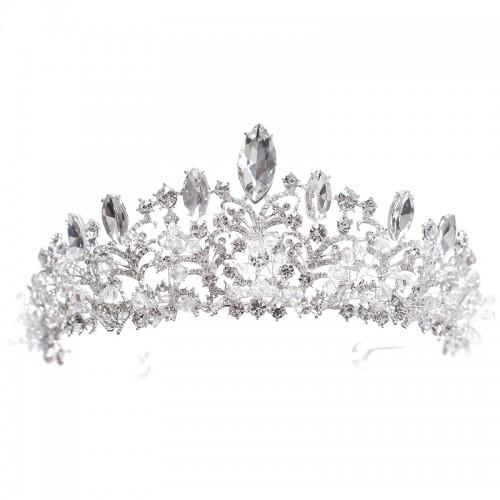 European Style Crown Headwear Bride Wedding Tiara Bride Makeup Headdress Princess Crown Wedding Style