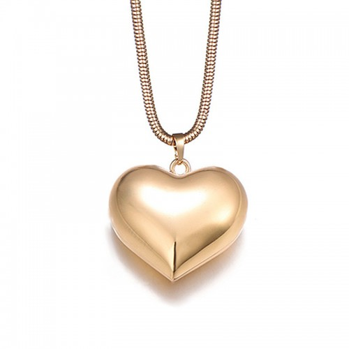 Heart-Shaped Necklace Long Alloy Sweater Chain Pendant Gift For Women