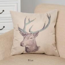"""Woodland Deer Head Throw Pillow ,18"""" x 18"""""""