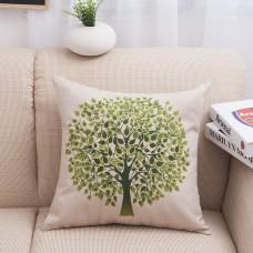 "Home decoration garden creative life tree green tree car pillow hemp pillow,18"" x 18"""