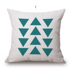 Triangles Geometric Retro Scandinavian Cotton Linen Cushion/Pillow  18 x 18""