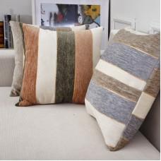 "Universal Bedroom Decorating Chenille fabric  stripe Jacquard Pillow Cushion, 18"" x 18"""