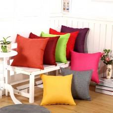 "Cotton Removable Decorative Pillow Case Cushion Square Warm  linen solid color pillow perfect decoration throw pillow , 18"" x 18"""