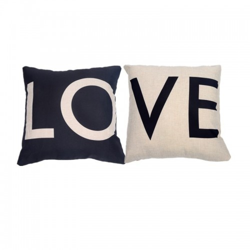 Nordic black and white LOVE pillow Valentine's Day gift cotton pillow sofa cushion