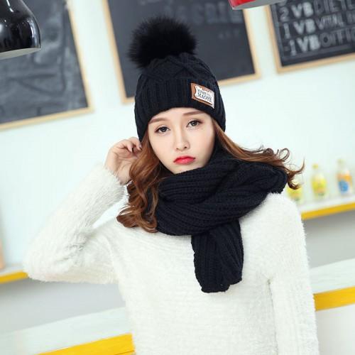 Connection Women  Wool Soft Scarf Fairisle Hat & Scarf Giftset