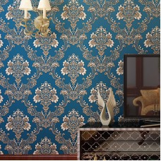 European Vintage Luxury Damask Wall Paper Non-woven fabric Embossed Textured Wallpaper Roll Home Decoration Wallpaper 0.53m10m=5.3㎡