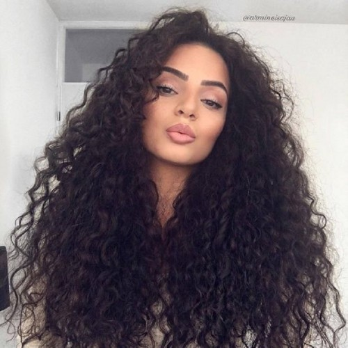 European and American women's long curly hair fashion wig