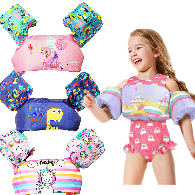 Swim Aids for Toddlers NOVOs Baby Swim Floats for Pool Kids Life Jacket from 30 to 50lbs Kids Learn to Swim Device with Arm Wings for Boys Girls